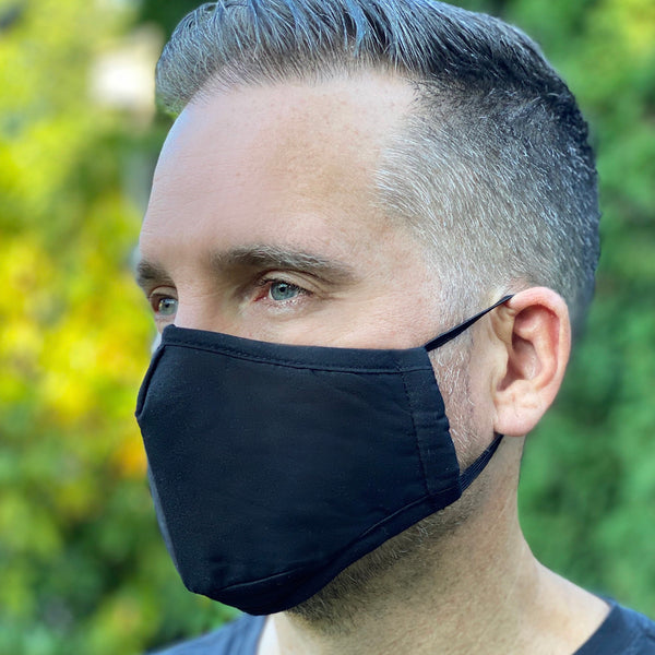 Black Breathable Mask - 2 pack