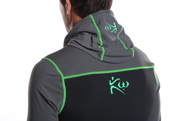 Men's Neoprene Sauna Suit Hoodie Back Rear View