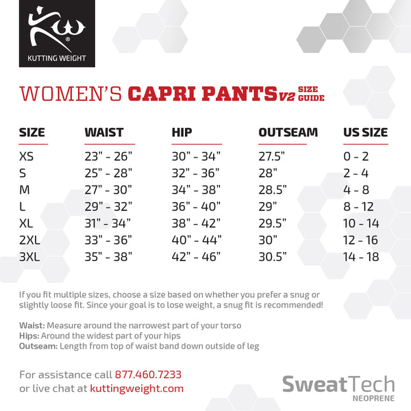 Women's Sauna Capri Pants V2