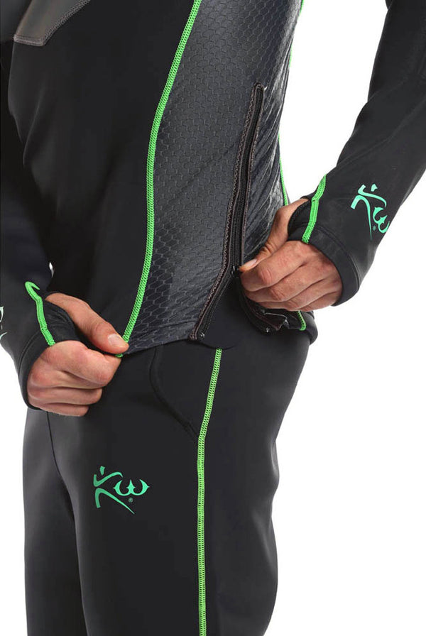 Men's Long Sleeve Neoprene Sauna Shirt Side Zipper Feature