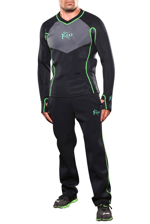 Men's Neoprene Long Sleeve Sauna Shirt and Sauna Pants