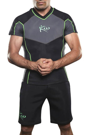 Men's Short Sleeve Sauna Shirt and Sauna Shorts