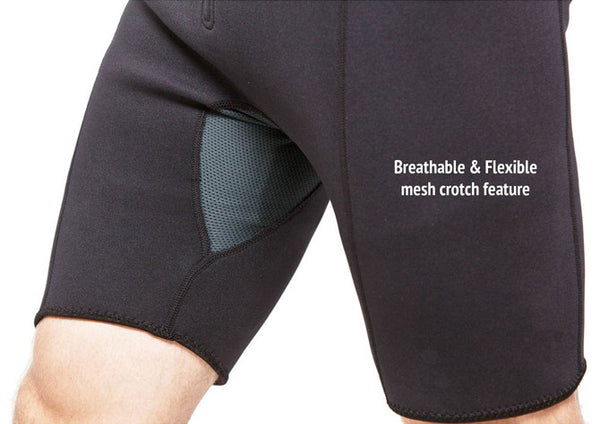 Men's Neoprene Sauna Suit Kutting Weight Breathable Crotch