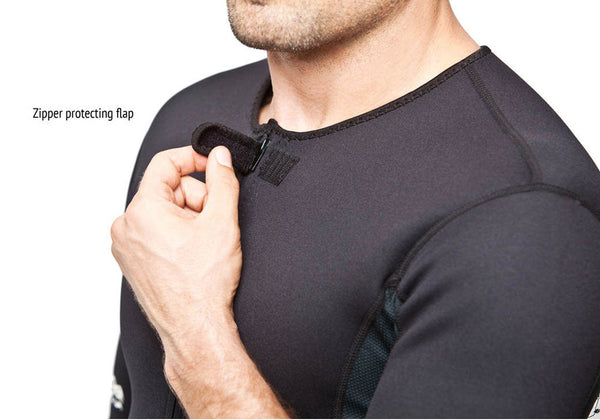 Men's Neoprene Sauna Suit Kutting Weight Zipper Protection Feature