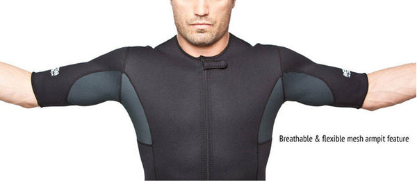 Men's Neoprene Sauna Suit Kutting Weight Breathable Armpits