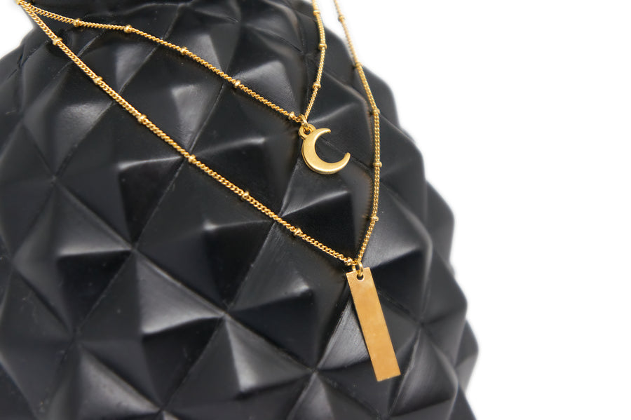 Collier Double Lune