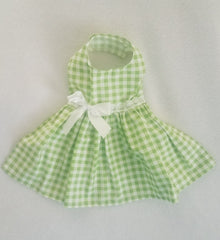 Summer Green Gingham Dress