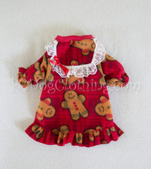 Cozy Fleece Lacey Gingerbread Nightgown (Limited Sizes Available)