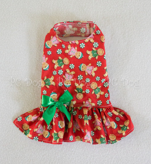 Red and Green Gingerbread Dress (Limited Sizes available)