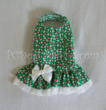 Green Snowman Drop Waist Dress(Limited Sizes Available)
