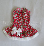 Red Snowman Drop Waist Dress