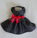 Black and Red Satin Shimmer Dress