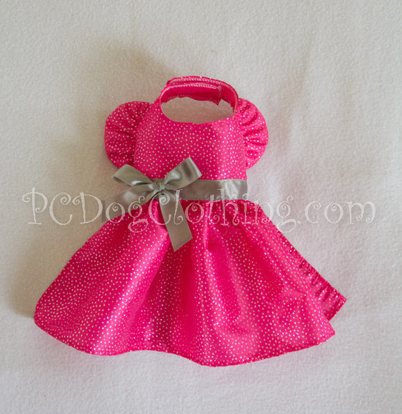 Bright Pink Satin Shimmer Dress