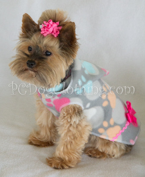 Gray and Pretty Paws Hoodie Dress