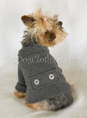 Charcoal Gray Fleece Coat