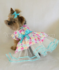 Frilly Aqua Floral Dress