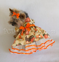 Elegant Fall Pumpkins Dress