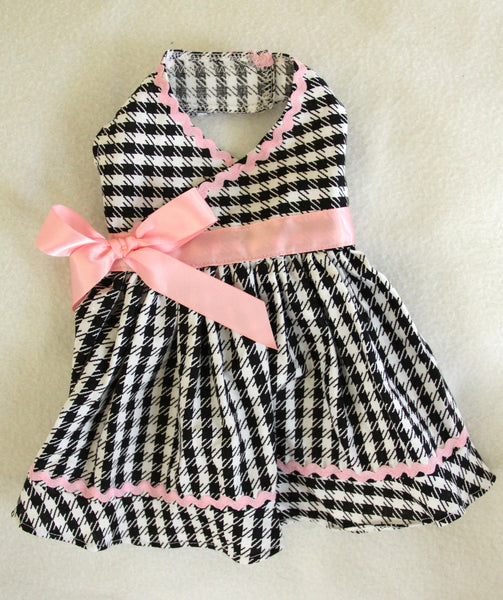 Pink Black Houndstooth Dress (Limited sizes available)