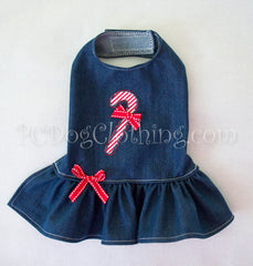 Denim Candy Cane Dress
