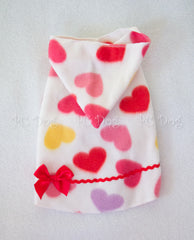 Valentine Hearts Hoodie Dress (Clearance, limited sizing)