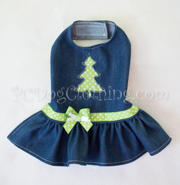 Denim Christmas Tree Dress