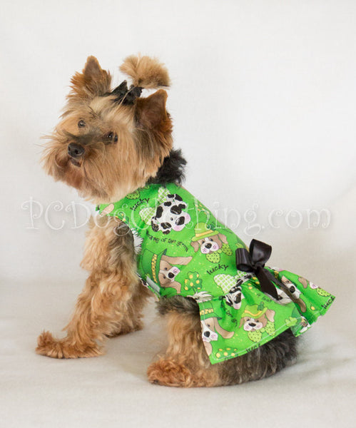 St. Patrick's Day Puppies Dress