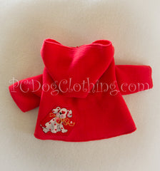 Valentine Puppy Red Dog Hoodie