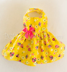 Yellow Ladybug Dress