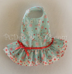 Mint and Coral Bunny Dress