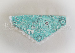 Aqua and Lace Bandana