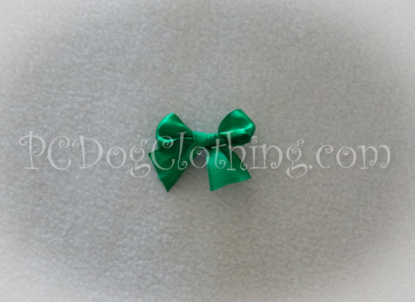 Bright Green Satin Hair Bow