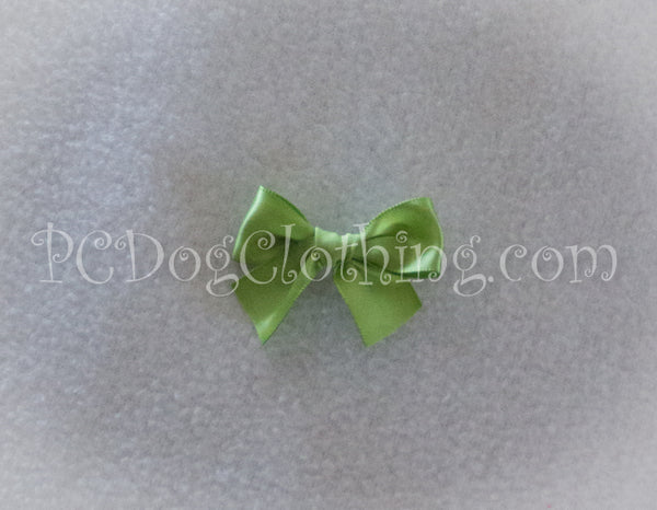 Apple Green / Lime Satin Hair Bow