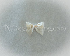 Cream Satin Hair Bow