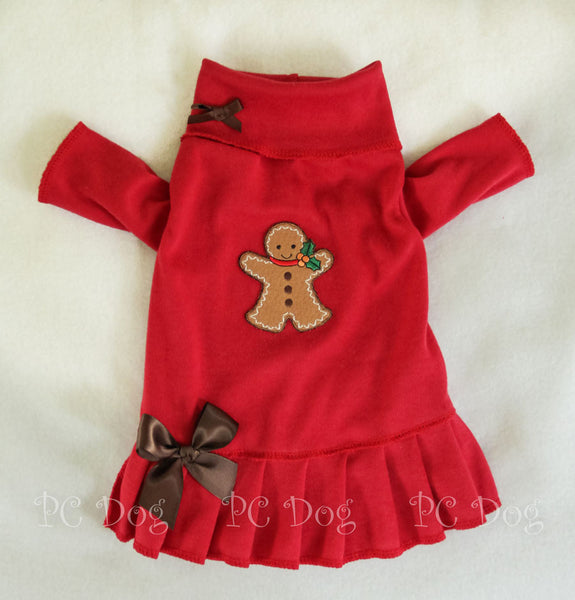 Gingerbread Turtleneck Shirt Dress