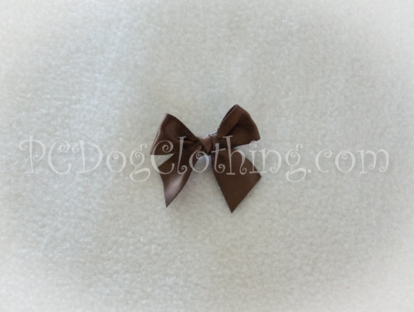 Brown Satin Hair Bow