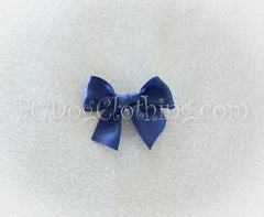 Navy Blue Satin Hair Bow