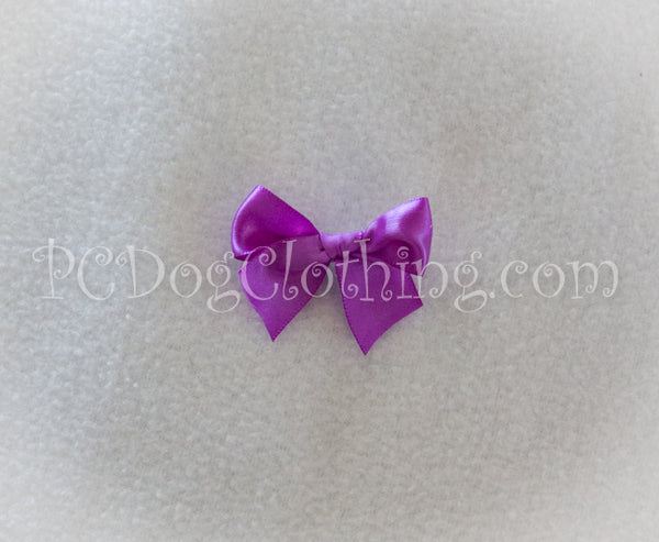 Bright Purple Satin Hair Bow