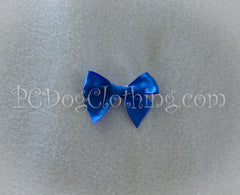 Bright Blue Satin Hair Bow