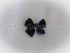 Black Satin Hair Bow