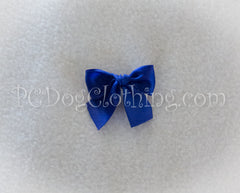 Deep Blue Satin Hair Bow