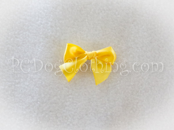 Bright Yellow Satin Hair Bow
