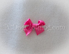 Bright Pink Satin Hair Bow