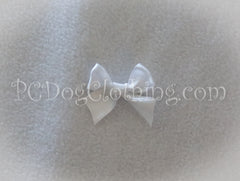 White Satin Hair Bow