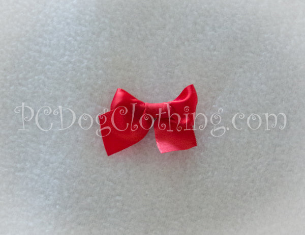 Bright Red Satin Hair Bow