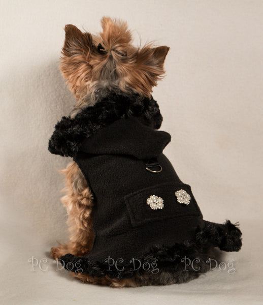 Black Fleece Coat