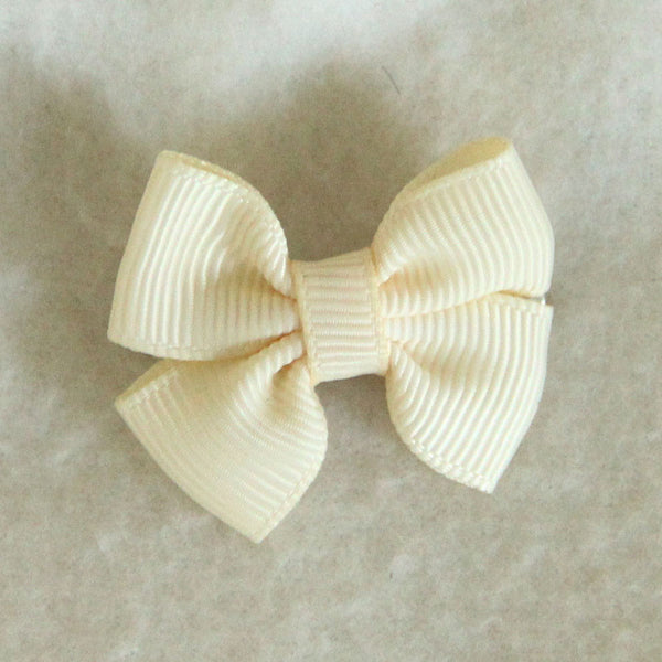 Cream Hair Bow