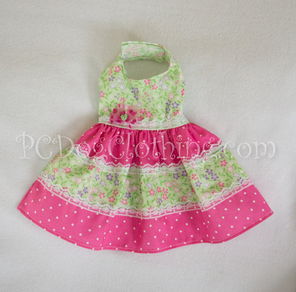 Pink and Green Summer Dress