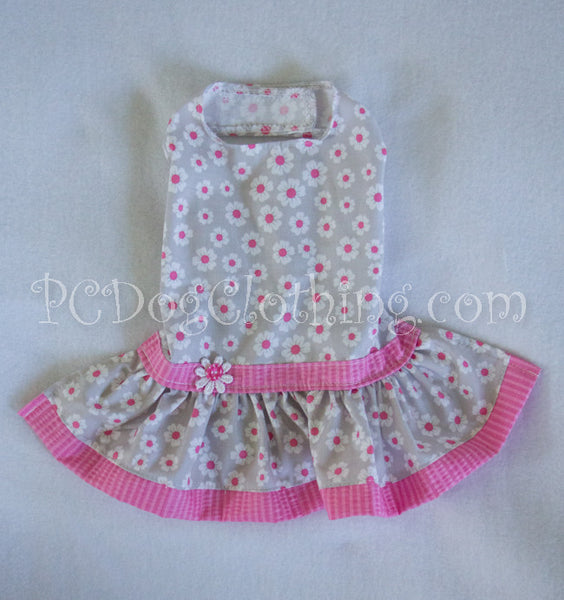 Pink and Gray Flower Dress (Limited availability)