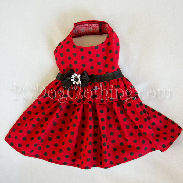Retro Red and Black Dress