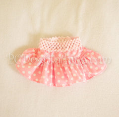 Pink Polka Dot Cotton Skirt